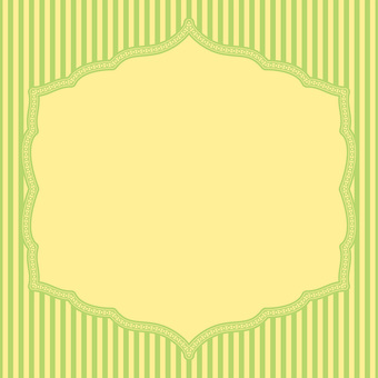 Card (striped yellow green)