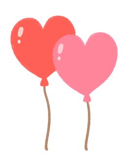 心形氣球2(粉紅色)