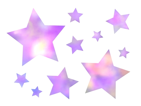 Set of fancy stars