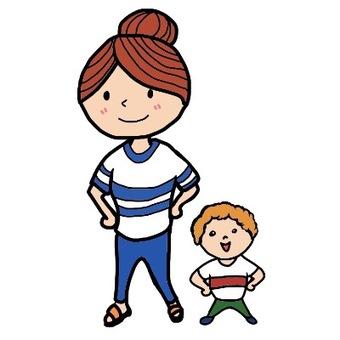 Parent and child illustration 4