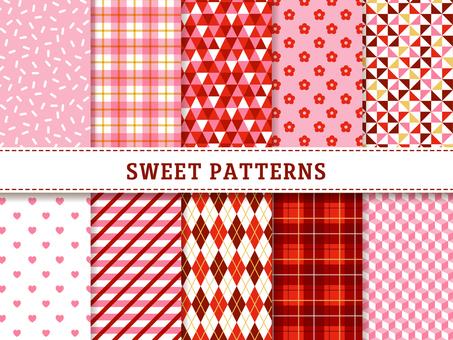 Simple geometric pattern (girly)