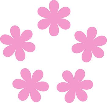 꽃잎 패턴 일러스트