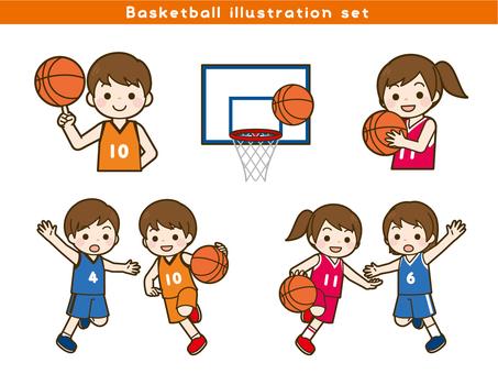 バスケットボール イラスト セット