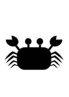 Crab - silhouette