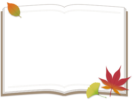 Book and autumn leaves