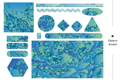 "Pattern ""Light Blue Mix"""