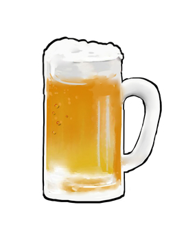 Beer (white background)