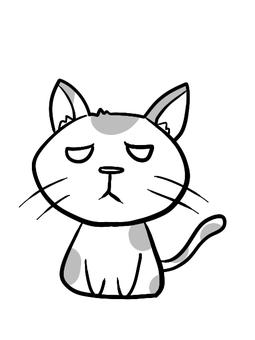 惡劣的喜怒無常的貓