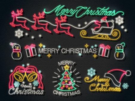 クリスマスタイトル_ネオン