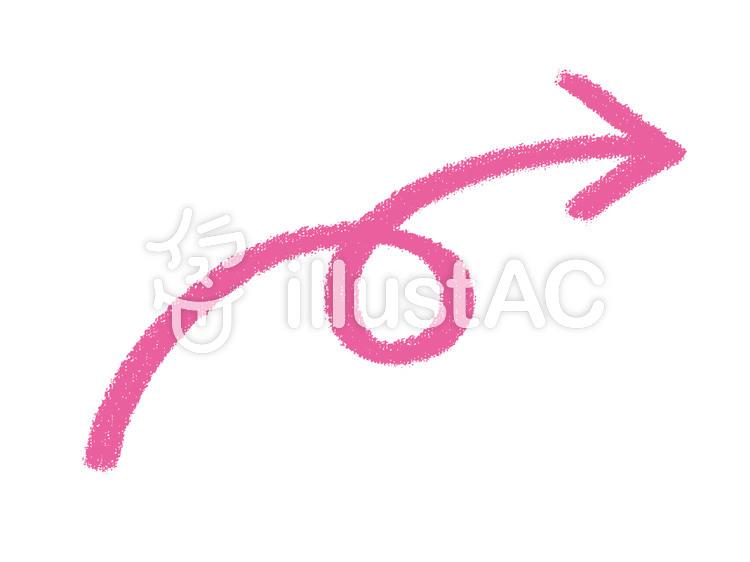 手描き風くるくる矢印イラスト No 1054165無料イラストなら