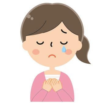 Woman crying / tears / crying / sad