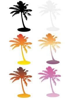Palm tree · Silhouette