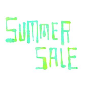 Summer sale character