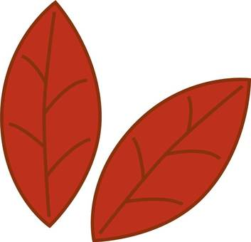 2 sheets leaf red