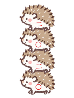 Hedgehogs stacked 2020