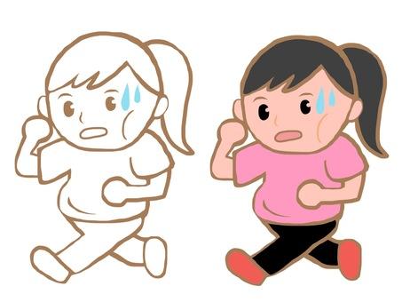 Running women's diet