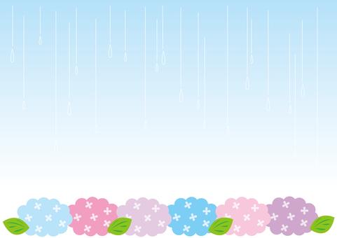 Wallpaper - hydrangea and rain