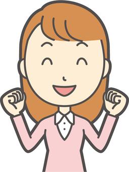 粉紅女孩長發140胸圍