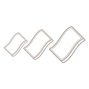 Nursing care products (large, medium and small size of urine glue pad)