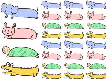 【Color】 Animal's name frame