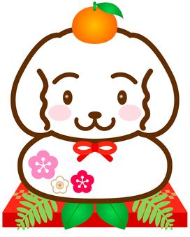 Kagami cake C (dog's mirror cake)