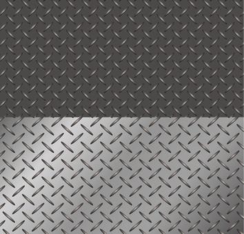 Diamond cut metal swatch
