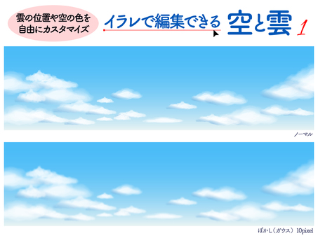 Sky and clouds background 1