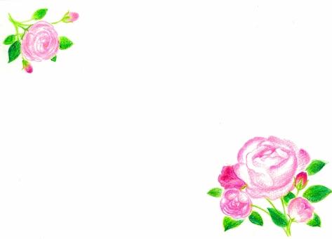 Handwritten rose frame