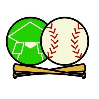 Baseball Ball and Stadium