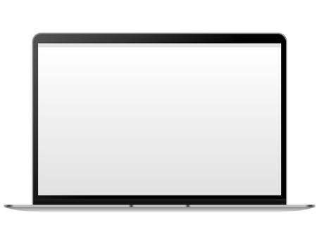 薄型ノートパソコン正面図