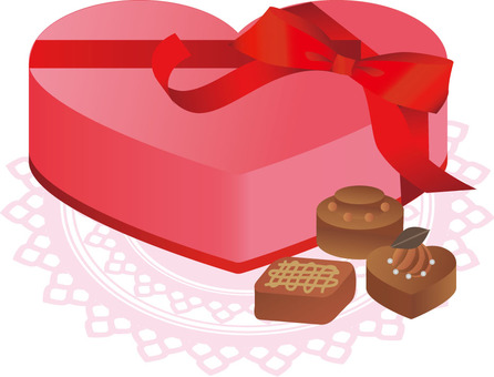 Gift Heart Chocolate Set Red
