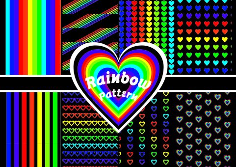 Rainbow pattern set
