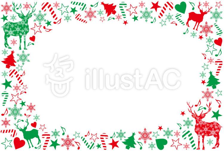 クリスマスフレームイラスト No 102477無料イラストならイラストac