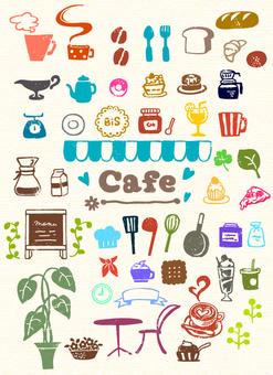 카페 풍 스탬프 세트