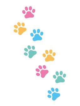 Colorful footprint footprint vertical