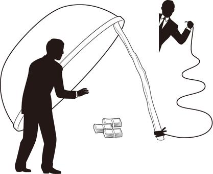 Businessman silhouette (fraud)