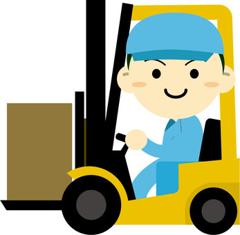 Men carrying forklift trucks