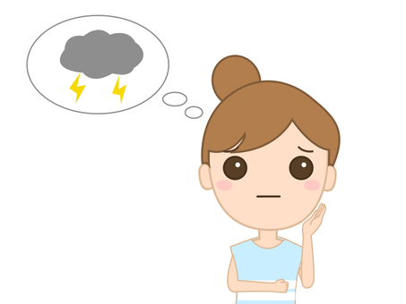 Woman worried about lightning