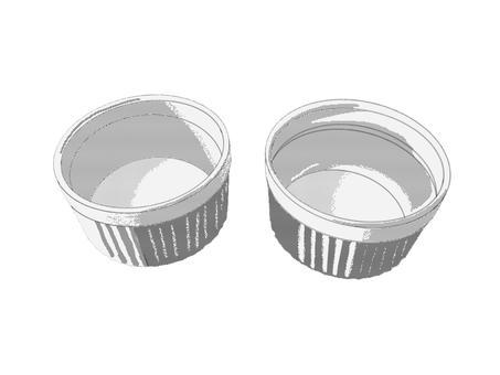 2個のココット皿