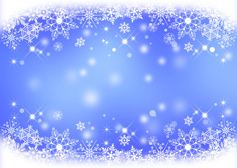 Snow crystal _ Blue _ Background