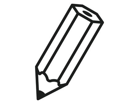 Pencil black and white icon