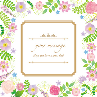 Botanical message card