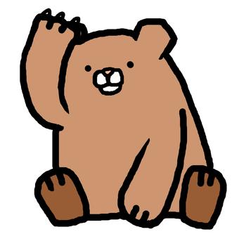 Bear feeding bear