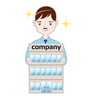 Illustration of company establishment