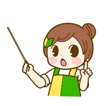 指し棒を指す 初心者若葉ちゃん