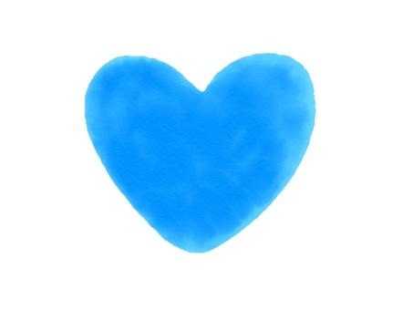 Blue Heart watercolor