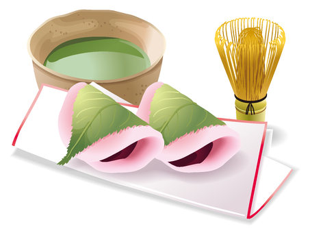 Japanese sweets illustration material 05
