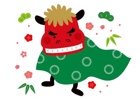 Lion dance cute illustration