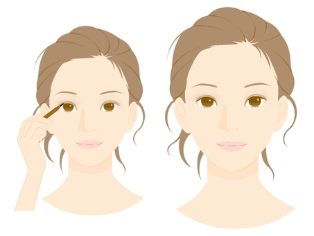 Make procedure (5) Eye line