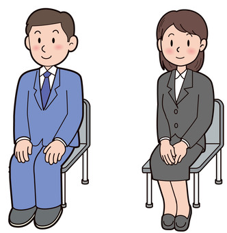 Job hunting company interview illustration